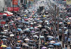 Hong Kong'da dev protesto