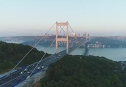 Asfalt çalışmasının sona erdiği FSM Köprüsü havadan görüntülendi