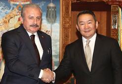 TBMM Başkanı Şentop, Moğolistan Cumhurbaşkanı Khaltmaa Battulga ile görüştü