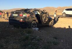 Gurbetçi ailenin otomobili takla attı: 1 ölü, 3 yaralı