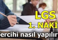 LGS nakil tercihi nasıl yapılır LGS 1. nakil tercih sonuçları ne zaman açıklanacak