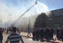Silah fabrikasında yangın