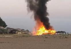 Şile sahilindeki büfede yangın