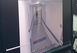 Hastaneden çaldıkları televizyonları çöp konteyneri ile çıkarttılar