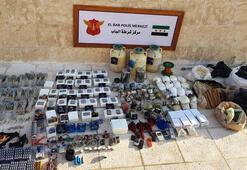 Suriye Babda 1 ton patlayıcı ele geçirildi