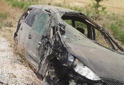 Avusturya'dan gelen gurbetçi aile kaza yaptı