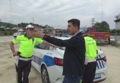 Radara giren sürücünün sözleri polisleri şaşırttı
