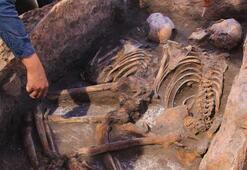 Kazı çalışmasında 5 bin yıllık insan iskeletleri çıktı