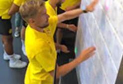 B.Dortmundlu oyuncuların lazer imtihanı