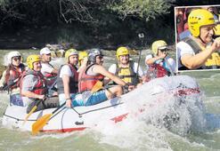 Yıldırım'ın rafting heyecanı