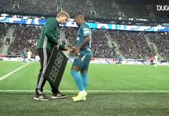 Malcom Zenit formasıyla ilk maçında...