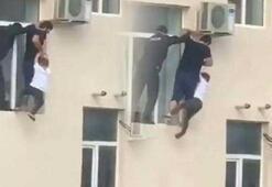 Sekizinci kattaki çocuğun imdadına komşusu yetişti