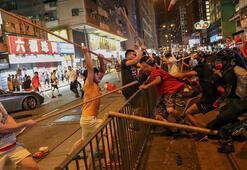 Çinden Hong Kongdaki göstericilere 12 bin polisle gözdağı