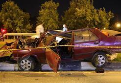 Manisada feci kaza Takla atan araçtan fırladı