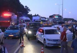 Son dakika | İstanbul Havalimanı yolunda hafriyat kamyonu devrildi