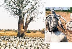 Köleliği  toprağa gömdü
