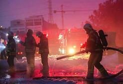 Tuzlada büyük fabrika yangını