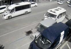 Akılalmaz kaza Duran araba adama çarptı