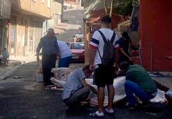 İstanbulda bildik görüntü Sokak ortasında...