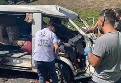 Çamlıca Gişeler'de sıkışmalı kaza