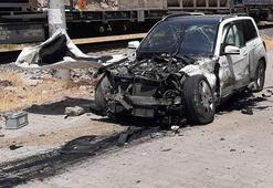 Kahramanmaraşta hemzemin geçitte kaza: 5 yaralı