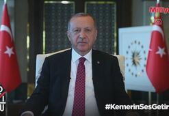 Kemerin ses getirsin kampanyasına Cumhurbaşkanı Erdoğan ve ünlülerden destek