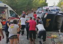 Antalyada safari cipi devrildi: 16 yaralı