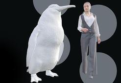 İnsan boyunda dev penguen