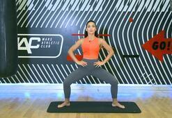 İç bacak kaslarını çalıştıran wide second position egzersizi