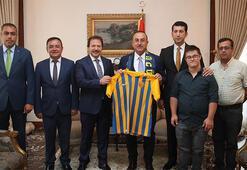 Ankaragücü Başkanı Yiğinerden Dışişleri Bakanı Çavuşoğluna ziyaret