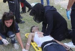 Anne ve baba ölen çocuklarına kalp masajı yaptı