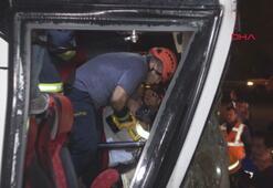 Bolu Dağında yolcu otobüsü TIRa çarptı