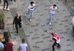 Taksimde hareketli dakikalar Polis müdahale etti