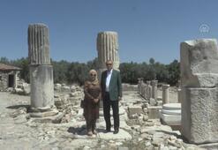 Cumhurbaşkanı Erdoğan, Stratonikeia Antik Kentini ziyaret ett