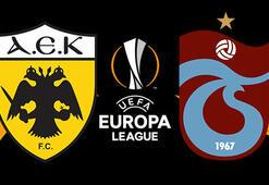 AEK Trabzonspor maçı ne zaman saat kaçta hangi kanalda UEFA Avrupa Ligi play-off ilk maçı