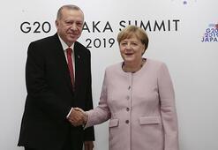 Cumhurbaşkanı Erdoğan Merkelle görüştü
