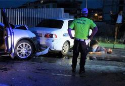 Müşteri olarak gittiği gece kulübünün şoförü ile kafa kafaya çarpıştı, olay yerinden kaçtı