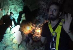 TV ekibi mağarada mahsur kalmıştı O görüntüler ortaya çıktı