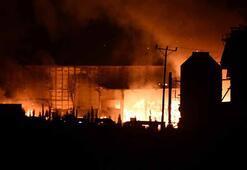Tüm fabrikayı sardı Tekirdağda korkutan yangın