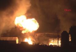 Tekirdağda geri dönüşüm tesisinde yangını