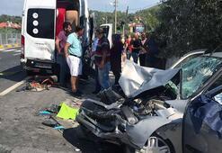 Minibüse binmek üzereydi... Korkunç kaza