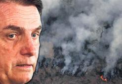 Amazonlar alev alev... Devlet Başkanı: Çevreciler çıkarıyor