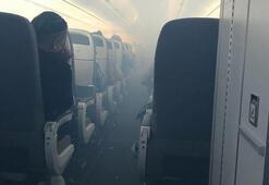 Havada büyük panik Uçak acil iniş yaptı