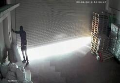 Maskeli hırsızlar kuruyemiş deposunu soydu