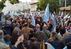 Arjantinde halk hükümete destek için sokağa çıktı