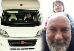 Mustafa Avkıran ailesiyle karavan tatilinde