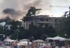 Dünyaca ünlü tatil bölgesinde korkutan yangın