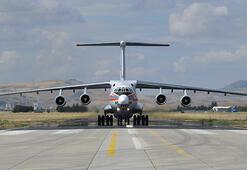 S-400 sevkiyatı kapsamında ikinci bataryanın parçalarını getiren uçak Mürtede indi