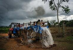 Kübada çocuklar için traktör havuz