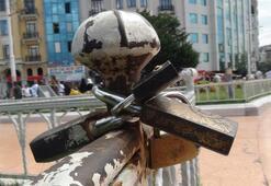 Taksim Meydanında ilginç görüntü